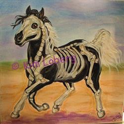 Art: Pinto Bones - SOLD by Artist Kim Loberg