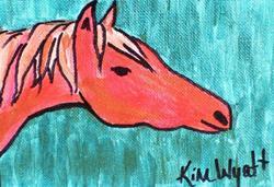 Art: Pop Art Horse  by Artist Kim Wyatt