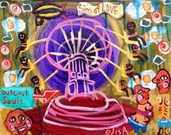 Art: Outcast Souls by Artist Elisa Vegliante