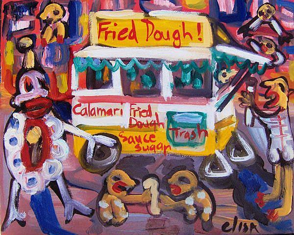 Art: Fried Dough Stand by Artist Elisa Vegliante