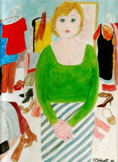Art: Celeste Hadn't A Thing To Wear (SOLD) by Artist Fran Caldwell