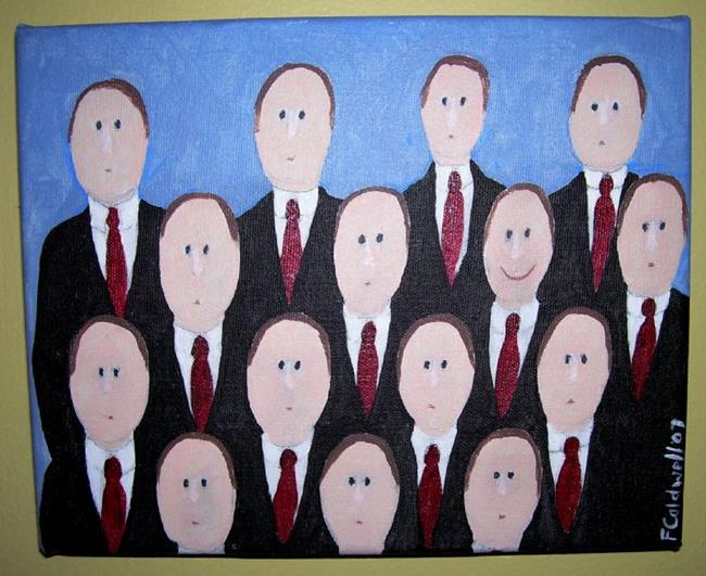 Art: Love Smile? (SOLD) by Artist Fran Caldwell