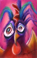 Art: Zombie Chicken (sold) by Artist Alma Lee