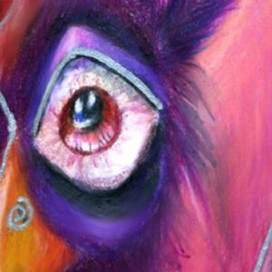 Detail Image for art Zombie Chicken (sold)