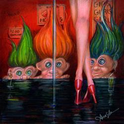 Art: Trollin by Artist Alma Lee