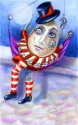 Art: Humpty Dumpty Steampunk Sold by Artist Alma Lee
