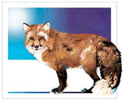 Art: Fox by Artist Kathy Morton Stanion