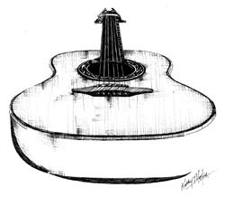Art: Guitar by Artist Kathy Morton-Stanion