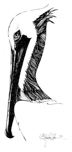 Art: Pelican by Artist Kathy Morton Stanion