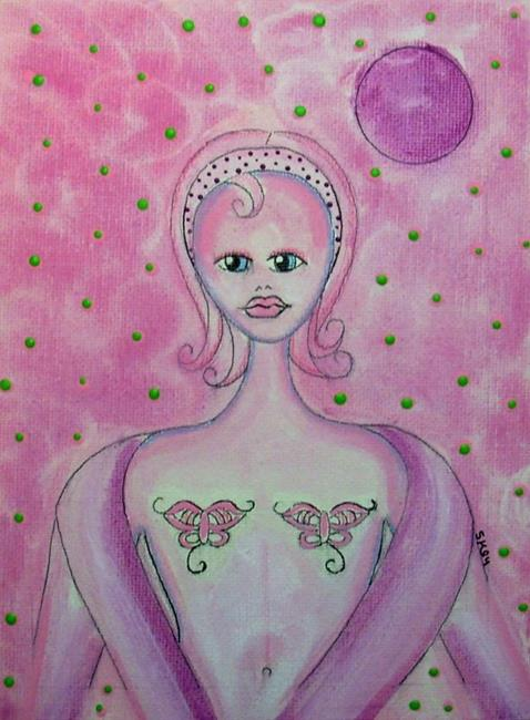 Art: She Had Butterfly Tattoos For Breast by Artist Sherry Key