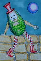 Art: HUMPTY WAS A FANCY PYSANKY by Artist Sherry Key