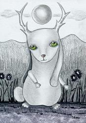 Art: Kin To Jackalope-Sold by Artist Sherry Key