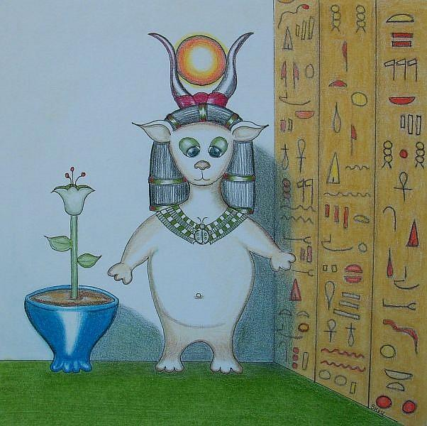 Art: Digit Does Egyptian by Artist Sherry Key