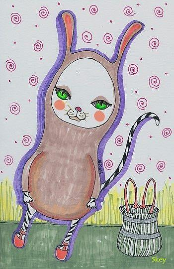 Art: Bunny Cat by Artist Sherry Key