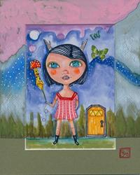 Art: Plumia-Sold by Artist Sherry Key
