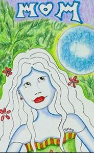 Detail Image for art Mom Mother Bookmark-(choose hair, eye color)
