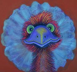 Art: Emu Moto by Artist Sherry Key