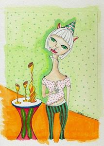 Detail Image for art Cindy Lou Who