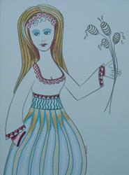 Art: Miss Honeydripper by Artist Sherry Key