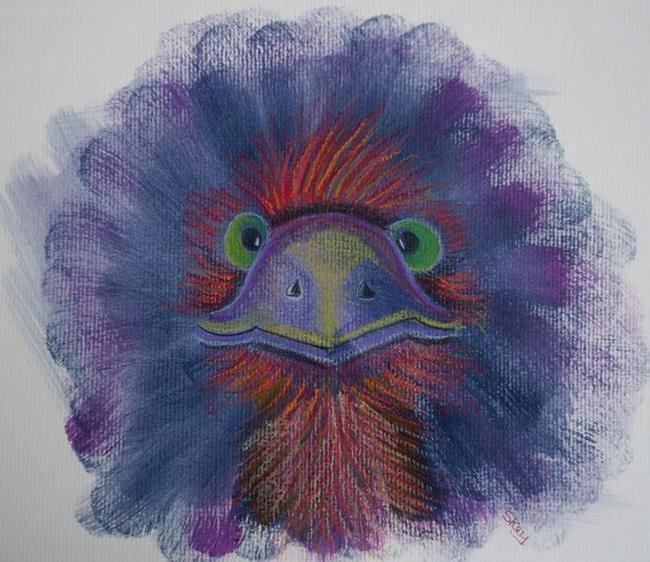 Art: Emu Mote by Artist Sherry Key