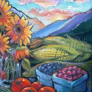 Detail Image for art Wasatch Sunrise at Ogden Farmers' Market