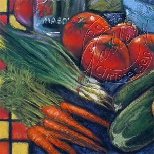Detail Image for art Wasatch Sunrise at Ogden Farmers' Market