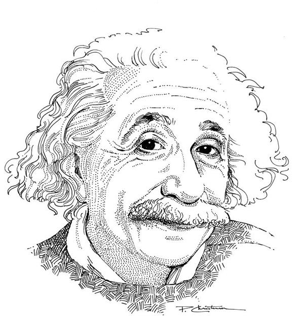 Art: Albert Einstein by Artist Patricia  Lee Christensen