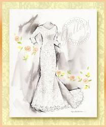 Art: Bridal Gown ~ Front View by Artist Patricia  Lee Christensen