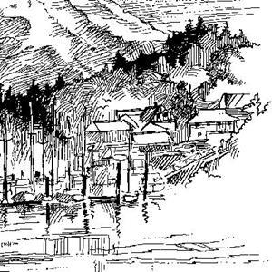 Detail Image for art Gig Harbor With Mt. Rainier