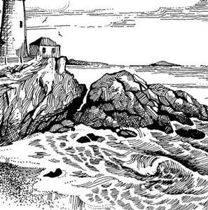 Detail Image for art Portland Headlight (Maine)