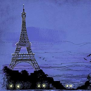 Detail Image for art River Seine and Eiffel Tower