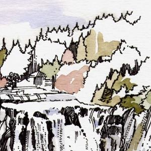 Detail Image for art Snoqualmie Falls & Lodge