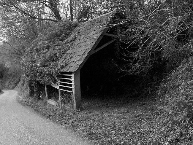 Art: Disused Barn, Clayhanger by Artist Laura T