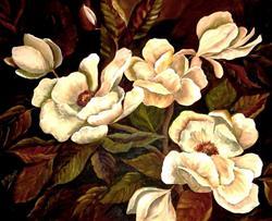 Art: Midnight Magnolias - SOLD by Artist Diane Millsap