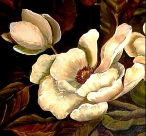 Detail Image for art Midnight Magnolias - SOLD