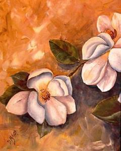 Detail Image for art Spring Magnolias - Diptych - SOLD