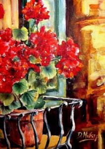 Detail Image for art Window Box with Geraniums