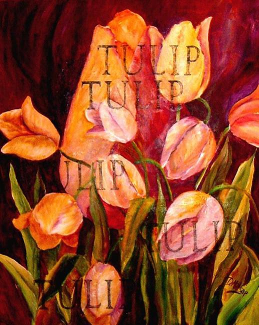 Art: Tulip - SOLD by Artist Diane Millsap
