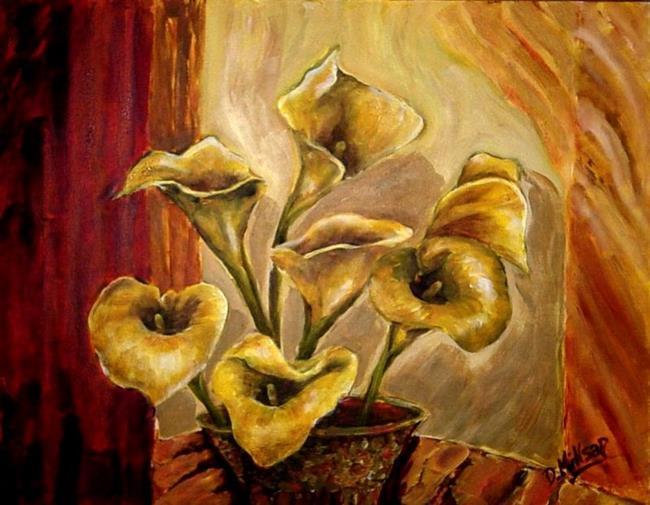 Art: Yellow Calla Lily by Artist Diane Millsap
