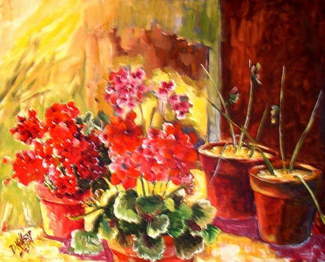 Art: Spring Garden - SOLD by Artist Diane Millsap