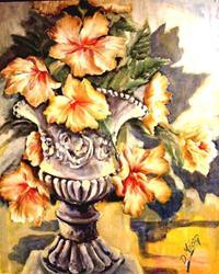 Art: Giant Hibiscus - SOLD by Artist Diane Millsap