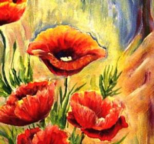 Detail Image for art Red Poppies - SOLD