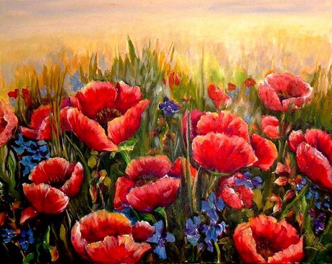 Art: Poppy Field - SOLD by Artist Diane Millsap