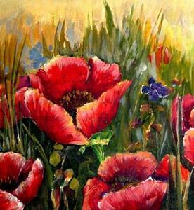 Detail Image for art Poppy Field - SOLD