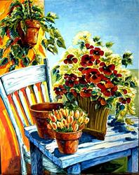 Art: Garden Spot - SOLD by Artist Diane Millsap