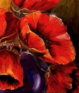 Detail Image for art Bowl of Poppies