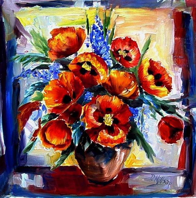 Art: A Splash of Poppies by Artist Diane Millsap