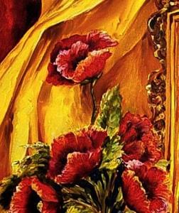 Detail Image for art Poppies by Candlelight