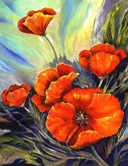 Art: Wild Poppies by Artist Diane Millsap