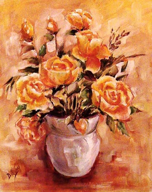 Art: Yellow Roses by Artist Diane Millsap